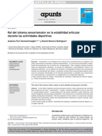 2012. Fort. Rol Del SSM en La Estabilidad Articular