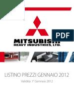 Mitsubishi Catalogo 2012