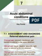Acute Abdominal Conditions