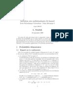 Initiation Aux Mathematiques Du Hasard Ecole Polytechnique
