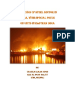 Analysis of Steel Sector in India, with special focus on units in Eastern India