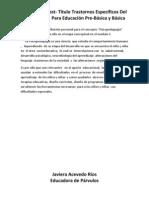 PRUEBA Post-título Trastorno Específicos Del aprendizajr Para Educación Pre-Básica y Basica