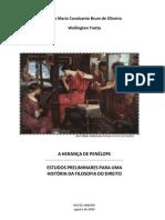 A Herança de Penélope. estudos preliminares para uma  História da Filosofia do Direito