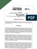 Resolucion_ 0000377_2013 Registro Nacional de Despacho de Carga