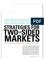 Strategies for Two-sided Markets by Thomas Eisenmann, Geoffrey Parker, and Marshall W. Van Alstyne