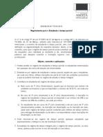 D55 R 2012 Regulamento Estudante Tempo Parcial