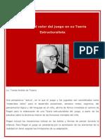 Piaget y El Valor Del Juego