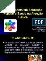 Planejamento em Educação Popular na Atenção Básica