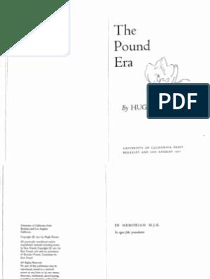 The Pound Era - Hugh Kenner | Henry James | Poetry