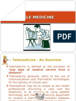 TELEMEDICINE, EMR, Role of IT in HM