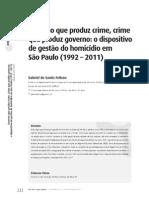 Governo Que Produz Crime