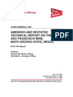 Technical Report - Sao Francisco Mine - July 27, 2009
