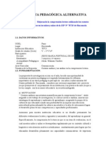 FORMATO DE PROPUESTA PEDAGÓGICA ALTERNATIVA