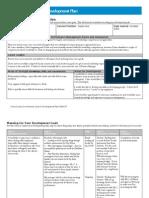 Career Development Plan Sample 3