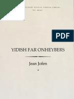 Yiddish Far Onheybers