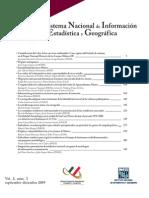 Fernández, J. J. (2009, Septiembre-Diciembre). INEGI. Boletín de los Sistemas Nacionales Estadístico y de Información Geográfica Vol. 2.