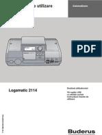 Logamatic 2114 - Instructiuni de Utilizare
