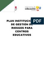 03.- Plan Institucional de Gestión de Riesgos para Centros Educativos PARA LLENAR