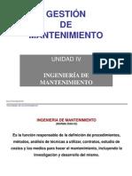 Unidad 4-GM-Ingeniería de Mtto