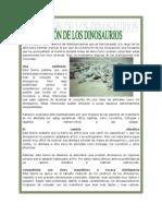 EXTINCIÓN DE DINOSAURIOS