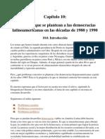Capitulo 10 Problemas Que Se Plantean a Las Democracias Latinoamericanas en Las Decacades de 1980 a 1990