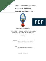 CALCULO Y DISEÑO ESTRUCTURAL DEL ESTADIO ATLETICO ALTO IRPAVI TOMO I