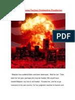 Phoenix Arizona Nuclear Destruction Prophecies