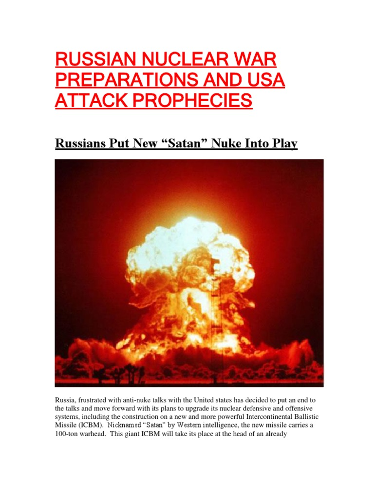 Russian Nuclear War Preparations and Usa Attack Prophecies | Military  Technology | International Politics