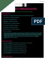 Famous Freemasons