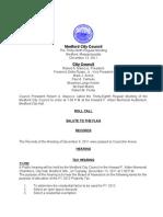 City Council Agenda December 13, 2011