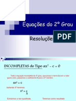 Equações do 2º Grau