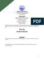 City Council Agenda June 30, 2009