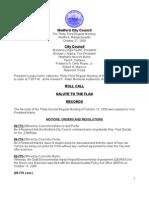 City Council Agenda October 27, 2009