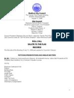 City Council Agenda August 12, 2008