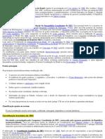 RESUMO -CONSTITUIÇÕES FEDERAIS DO BRASIL