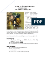 Syllabus - Introduction to British Literature