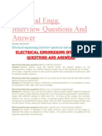 Electrical Interview Questions