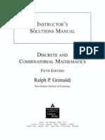 Discrete and Combinatorial Mathematics 5th Ed - R. Grimaldi - Solution Manual