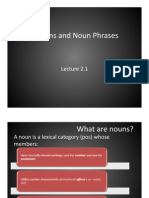 Lecture 2.1 - Nouns and Noun Phrases