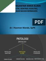 Kuliah Pengantar Kimia Klinik Farmasi