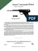 Colt Woodsman Automatic Pistol Caliber .22