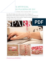 Diamante Artificial Trenzado Pulsera de Diy
