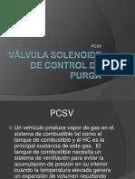 Válvula solenoide de control de purga