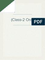 (Class-2 Oral)