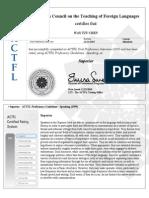 ACTFL OPI Certified