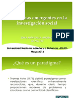 Paradigmas Emergentes en La Investigacion Social