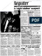 Orange County Register September 1, 1985 The Night Stalker, Richard Ramirez, caught in East Los Angeles – page 1 of 5