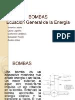 Bombas Ecuacion de La Energia Bernoulli