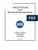 Ha Ccp Guide for Spices Seasonings 2006