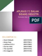 Aplikasi Fe Dalam Bidang Industri